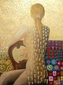 """""""Sem título"""" (2007) - Técnica mista sobre tela - 69,5 x 49,5 cm"""