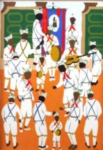 Banda de música - gravura - 1960 - 43 x 32 cm