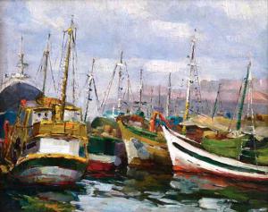 CAIS DO PHAROUX - RJ - óleo sem eucatex, 33 x 41 - Assinado no c.i.d. - Pertenceu à coleção do artista - INDISPONÍVEL