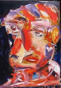 Da série Faces 2011 - óleo sobre tela - 92x73 cm - INDISPONÍVEL