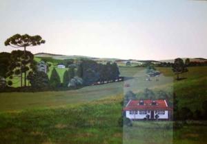 FAZENDA DO QUILOMBO 2009 - Acrílica sobre tela - 70 x 10 cm - INDISPONÍVEL