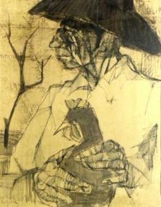 Figura - desenho - 1960 - 44 x 30 cm.