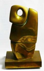 Figura - escultura em bronze, P41 - 18 cm