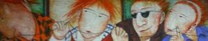 Figuras, 1992 - óleo sobre tela - 19 x 89 cm
