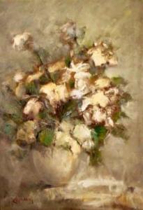 Flores murchas - óleo sobre tela, 1989 - 55 X 38 cm.