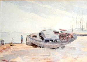 Marinha  - aquarela - 37 x 53 cm