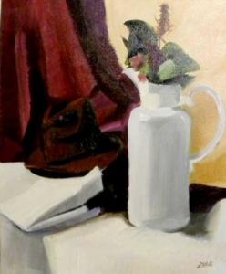 Natureza Morta, 1988 - acrílica sobre tela - 58 x 49 cm.