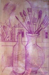 Natureza morta, 1957 - desenho - 60 x 40 cm