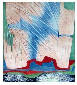 O jardim - litografia, 1991 - 54/100 - 50 x 50 cm.