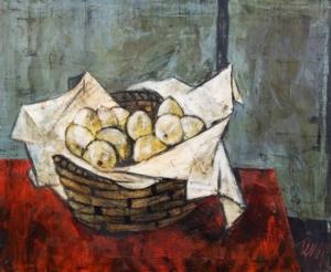 PANIER DE CITRON - óleo sobre tela - 60 x 74cm - assinado cid e verso - artista citado no Benezit