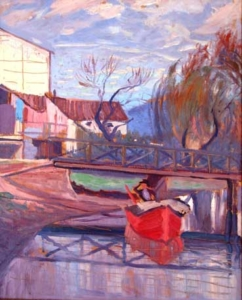 Paisagem - óleo sobre madeira - 1924 - 48 x 39 cm