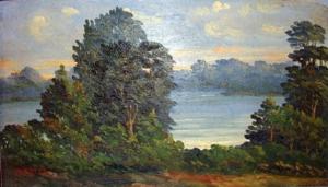 Paisagem - óleo sobre tela - 16 x 27 cm.