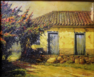 """RUDOLF WEIGEL - (VIENA - ÁUSTRIA, 13.06.1907 – RIO DE JANEIRO, 7.02.1987) - """"CASARIO"""" - Técnica ÓLEO SOBRE TELA - Dimensões 35cm x 43cm"""