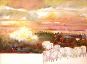 SÉRIE REBANHOS 1991 - Acrílica sobre tela - 60 x 80 cm