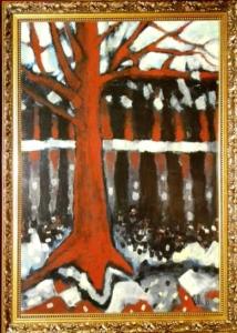 Sem título - óleo sobre cartão, 1999 - 66 x 47 cm