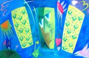 Sem título, 1986 - desenho a pastel - 50 x 82 cm.