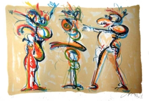 Sem título, 1997 - gravura Prova do Artista - 35 x 50 cm - Assinatura: canto inferior direito