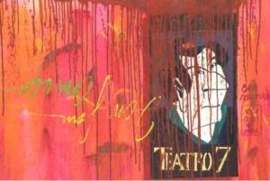 Teatro 7 - óleo sobre tela - Assinado cid. - 70 x 100 cm