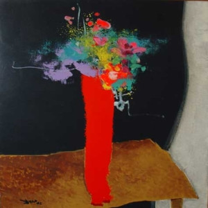 Vaso de flores - óleo sobre tela - 73 x 60 cm